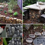 Fifteen İncredible DIY Garden Redecorating Ideas by using Rocks