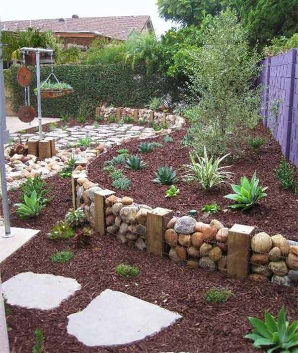 Fifteen İncredible DIY Garden Redecorating Ideas by using Rocks 2