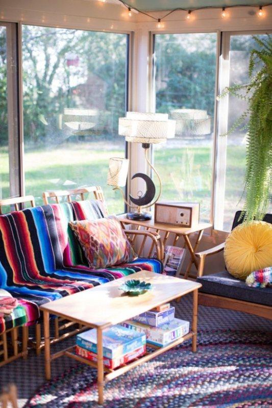 16 Wonderful Bohemian Sunroom Decor Ideas 2