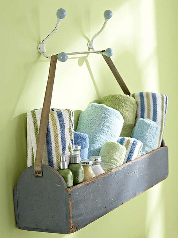 Great DIY Bathroom Towel Storage Ideas 1