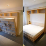 2 Shelved murphy bed