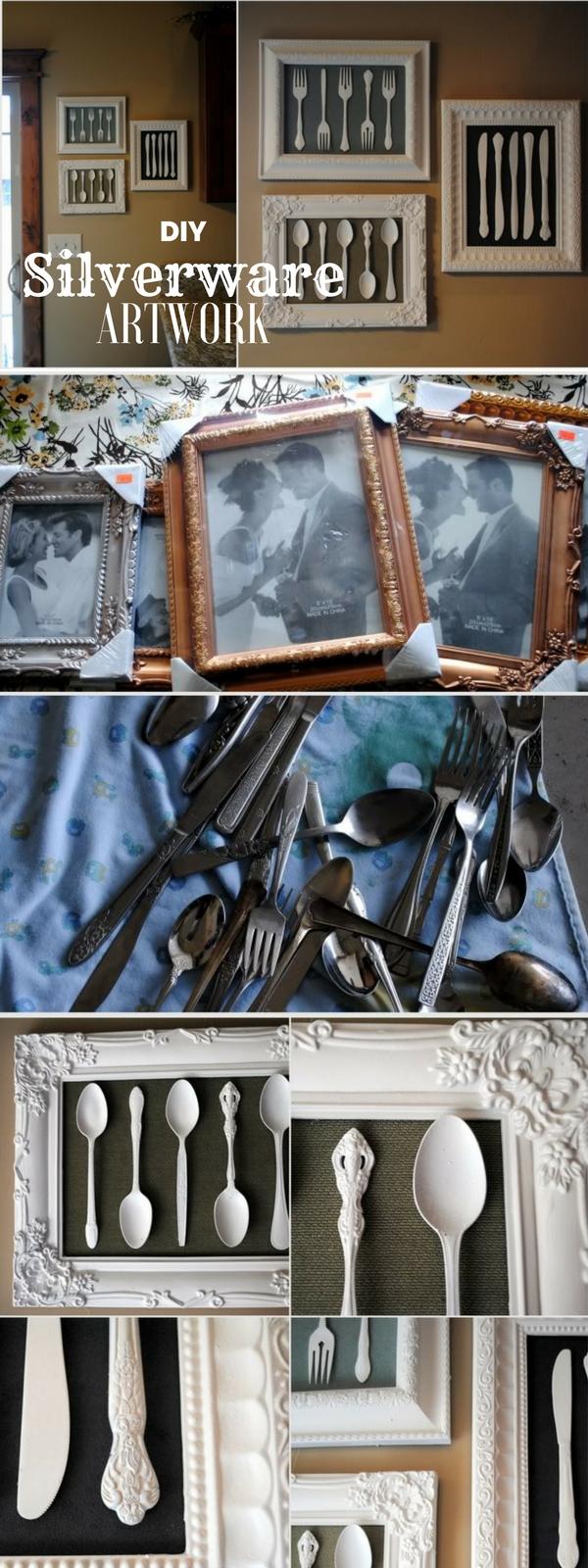 12.DIY Silverware Artwork