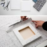 15.DIY Fabric Canvas Artwork