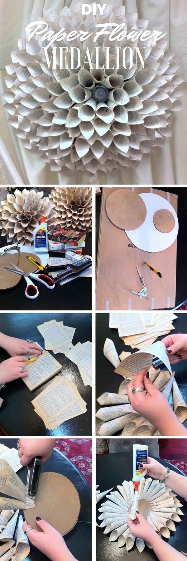 2.DIY Paper Flower Medallion