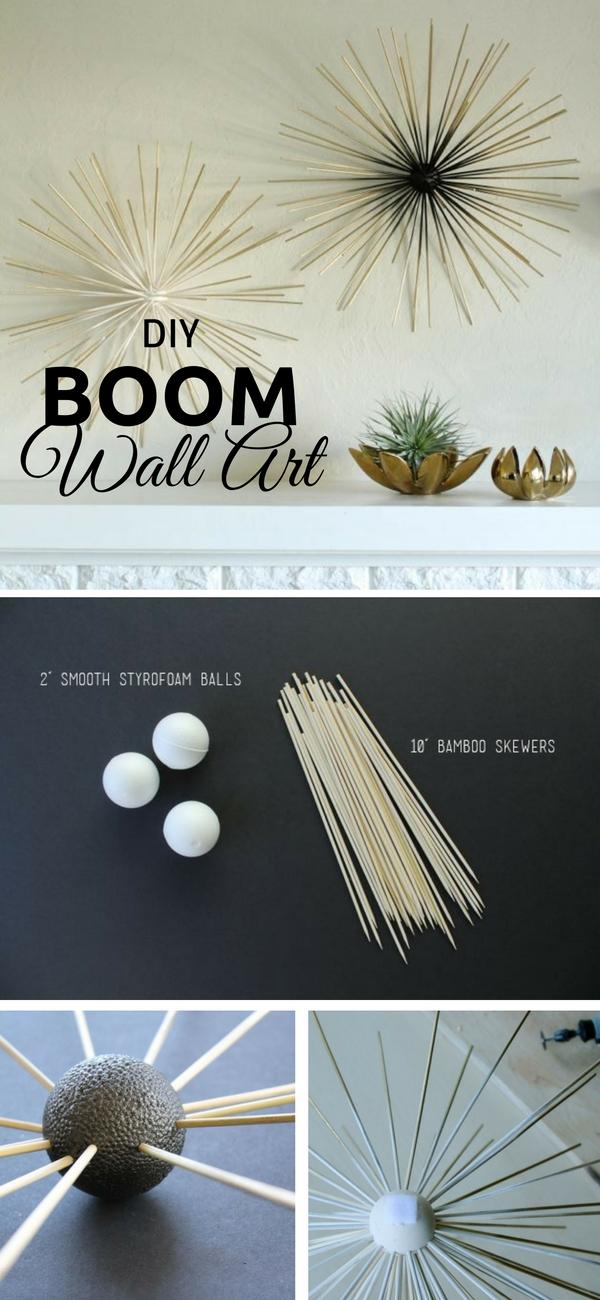 20.DIY Boom Wall Art