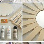 5.DIY Paintstick Sunburst Mirror