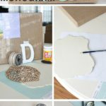 6.DIY Layered Burlap Monogram
