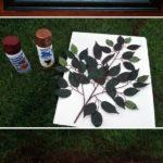 7.DIY Spray Paint Flowered Art