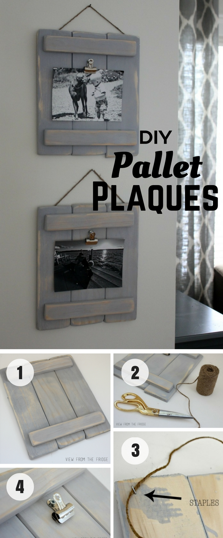 1.DIY Pallet Plaque