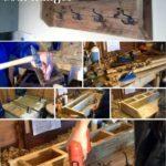 10.DIY Pallet Coat Hanger