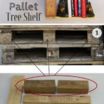 12.DIY Pallet Tree Shelf