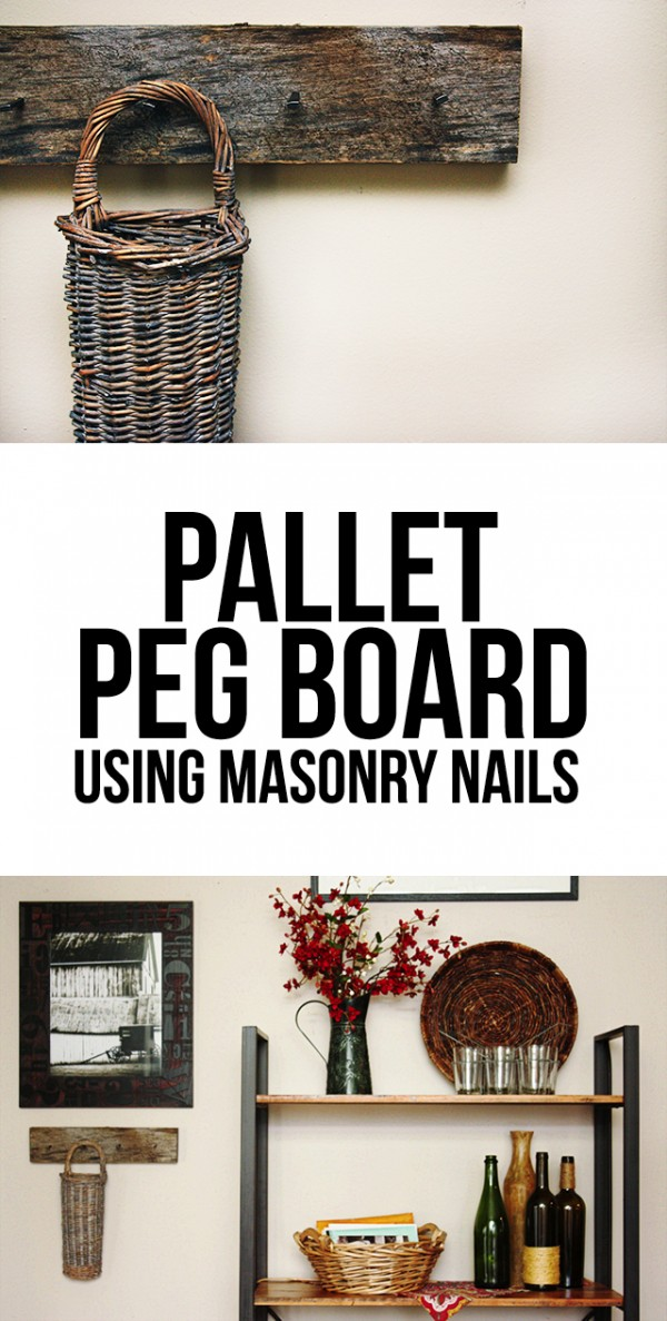 4.DIY Pallet Pegboard
