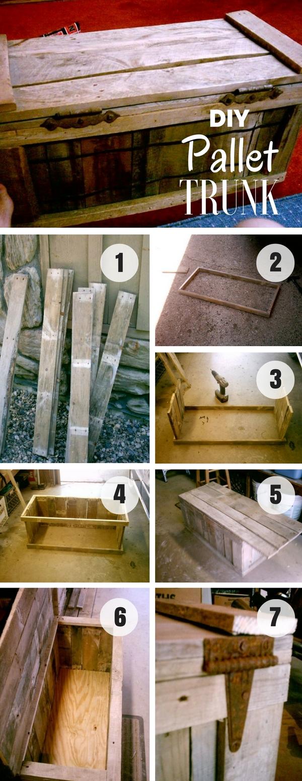 5.DIY Pallet Trunk