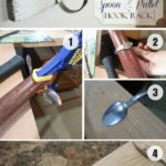 6.DIY Spoon and Pallet Hook Rack