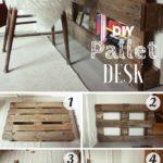 9.DIY Pallet Desk