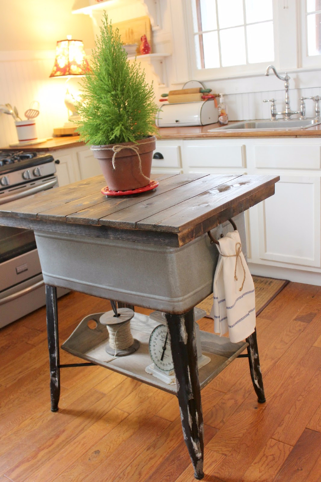 11. DIY Vintage Kitchen Counter