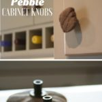 12. DIY Pebble Cabinet Knobs