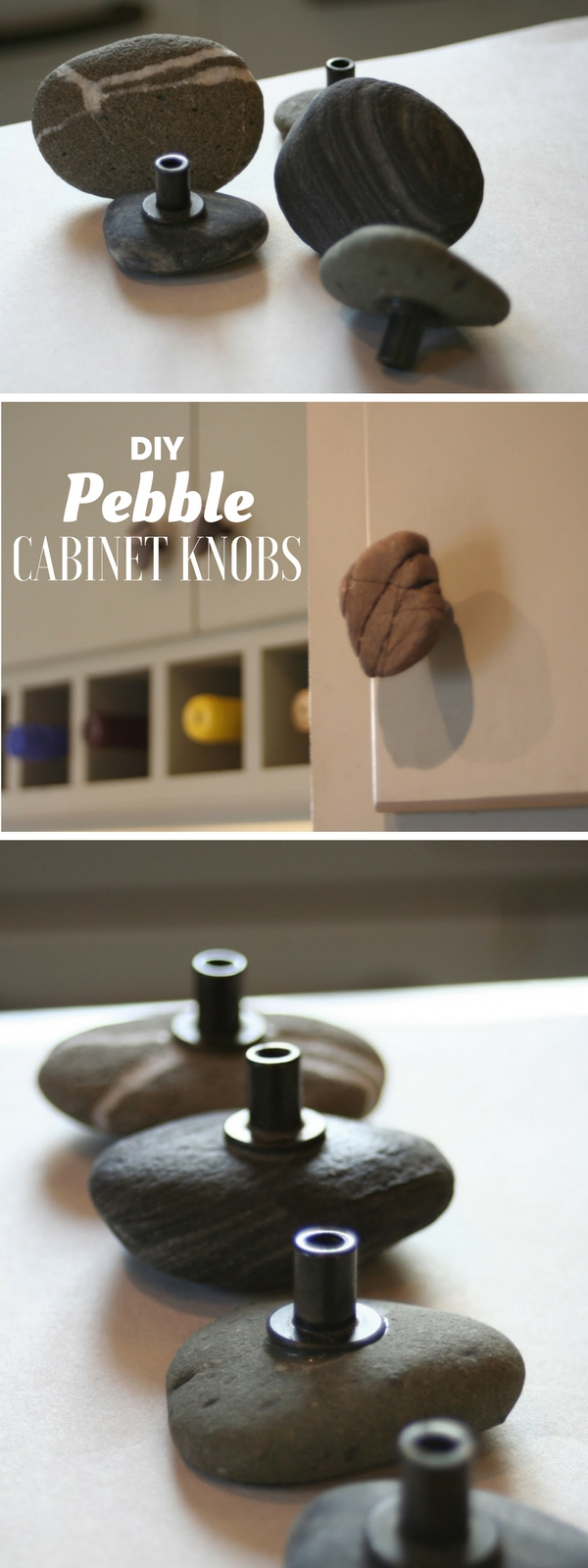 12. DIY Pebble Cabinet Knobs