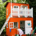 12.White & Orange Playhouse