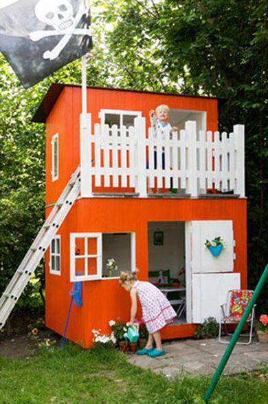 12.White & Orange Playhouse