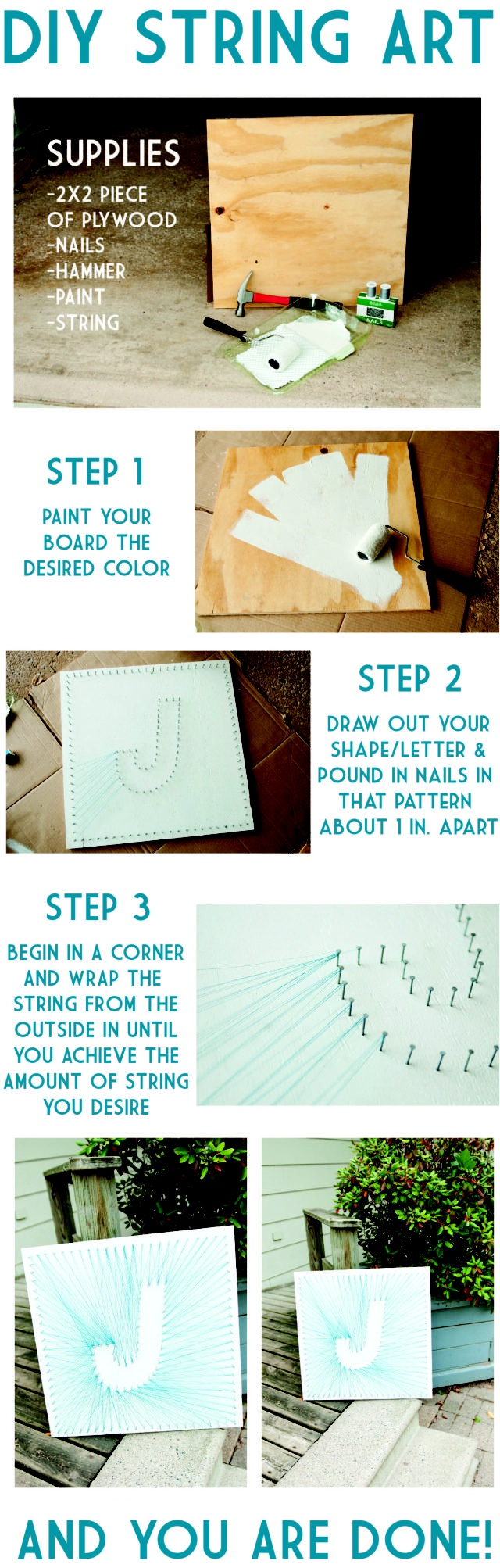 16 Easy DIY String Art For Great Wall Decor 5