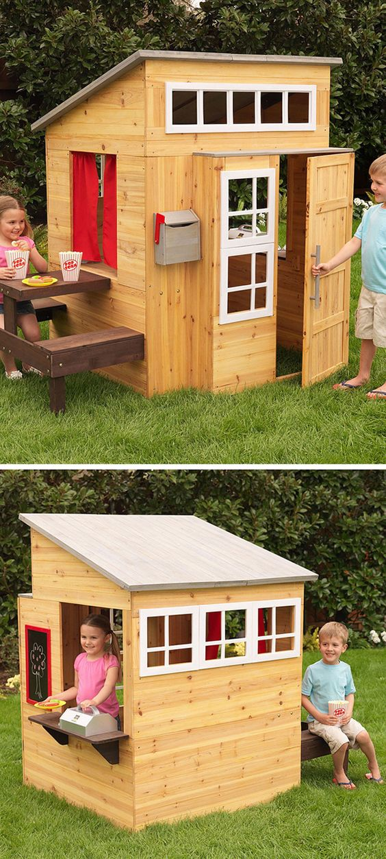 17.Simple Wooden Playhouse