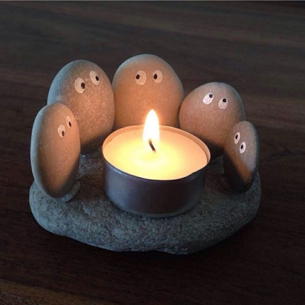 3. DIY candle holder