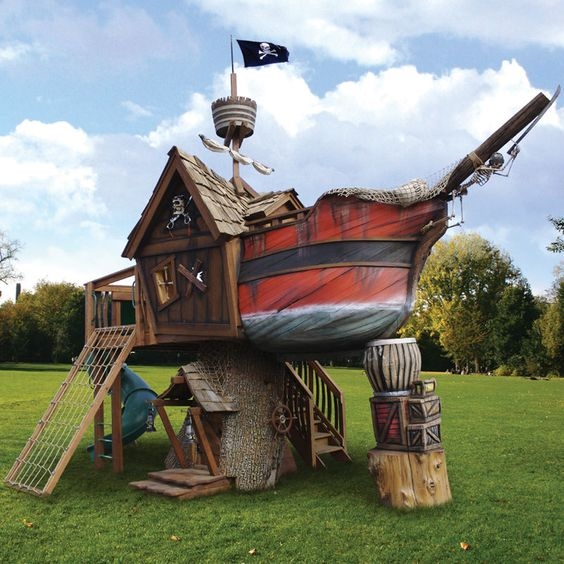 7.The Pirate Ship Playhouse