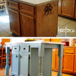 8. DIY Kitchen Island Transformation