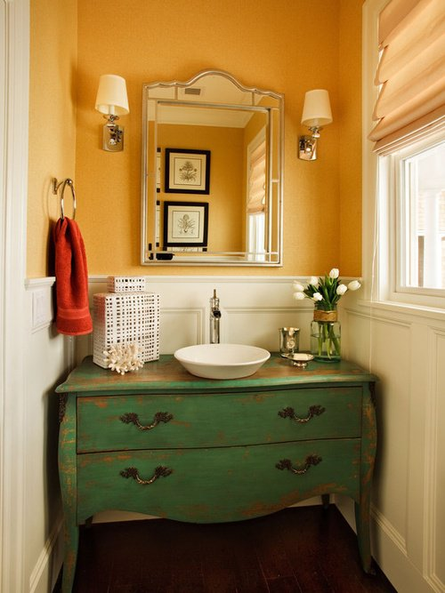 11.Bathroom Commode with Vintage Touch