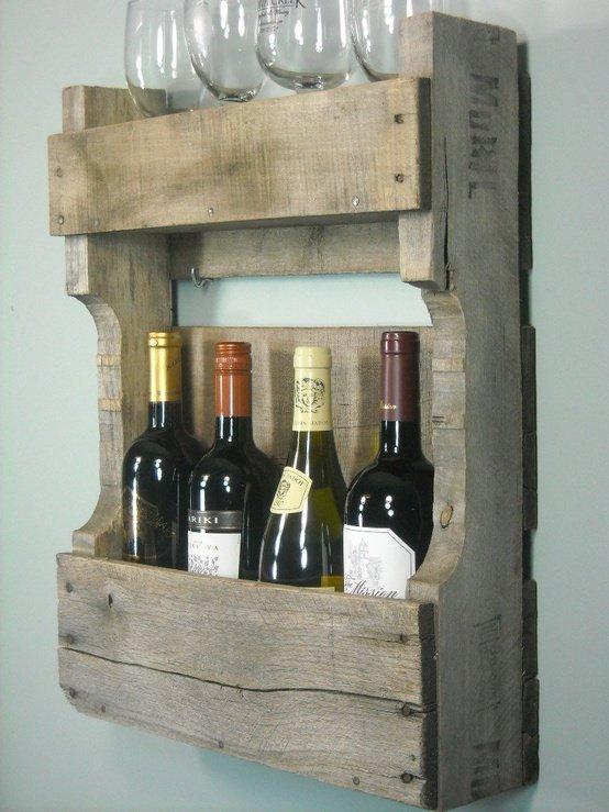 12.DIY Wine rack