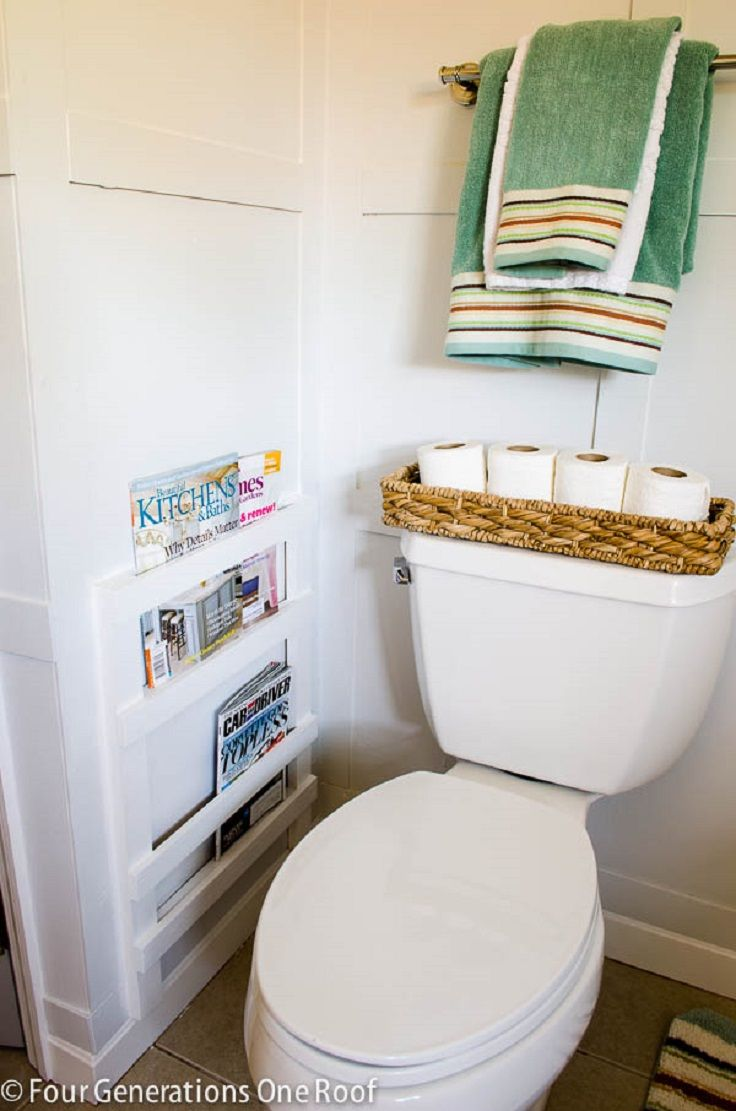 13. DIY Toilet Storage