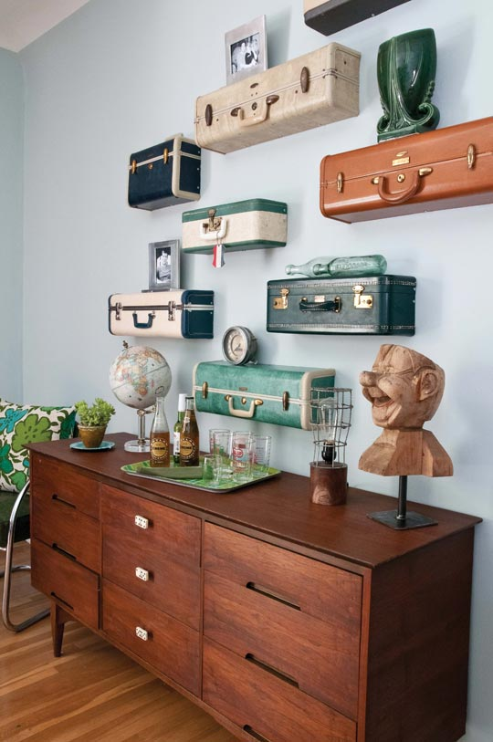 13.Suitcase Wall Shelves