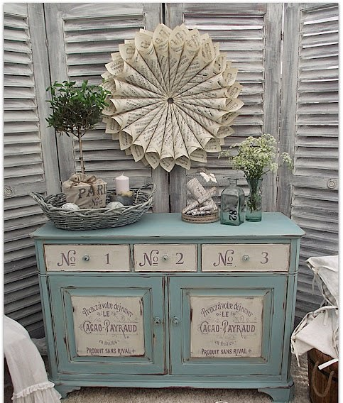 14.French Typography Painted Furniture