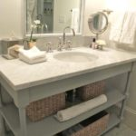 7. Shelved sink table