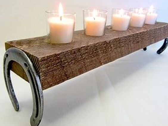 12.DIY Candle Bench