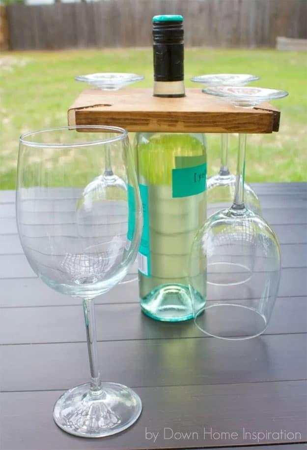 5.Wine Bottle & Glasses Holder