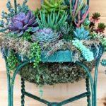 12.DIY Succulent Chair Planter