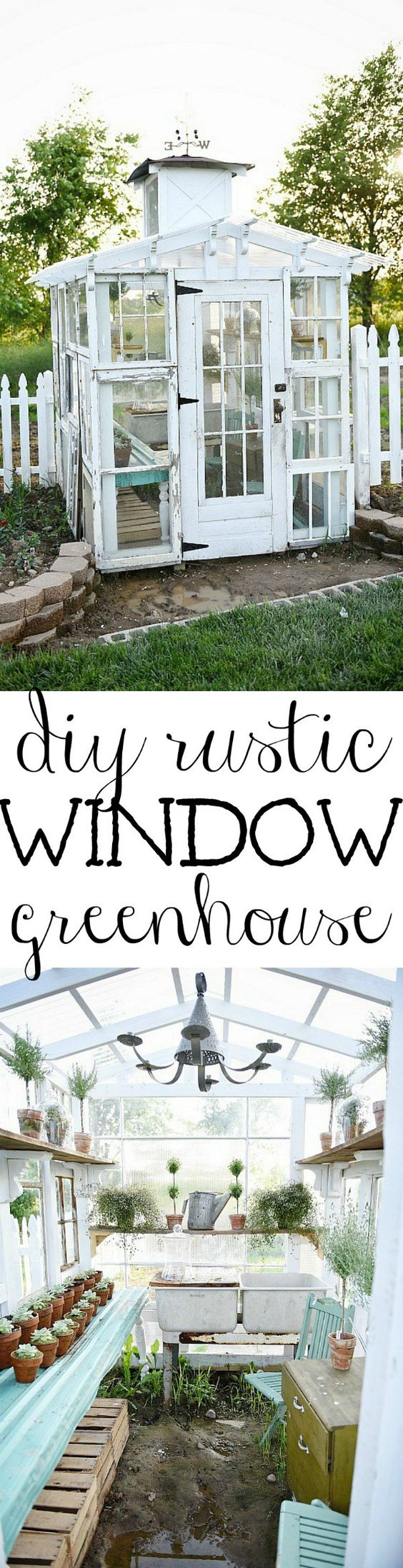 1. DIY Rustic Window Greenhouse
