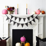 1.DIY Fireplace Decor