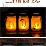 11. Halloween Mason Jar Luminaries