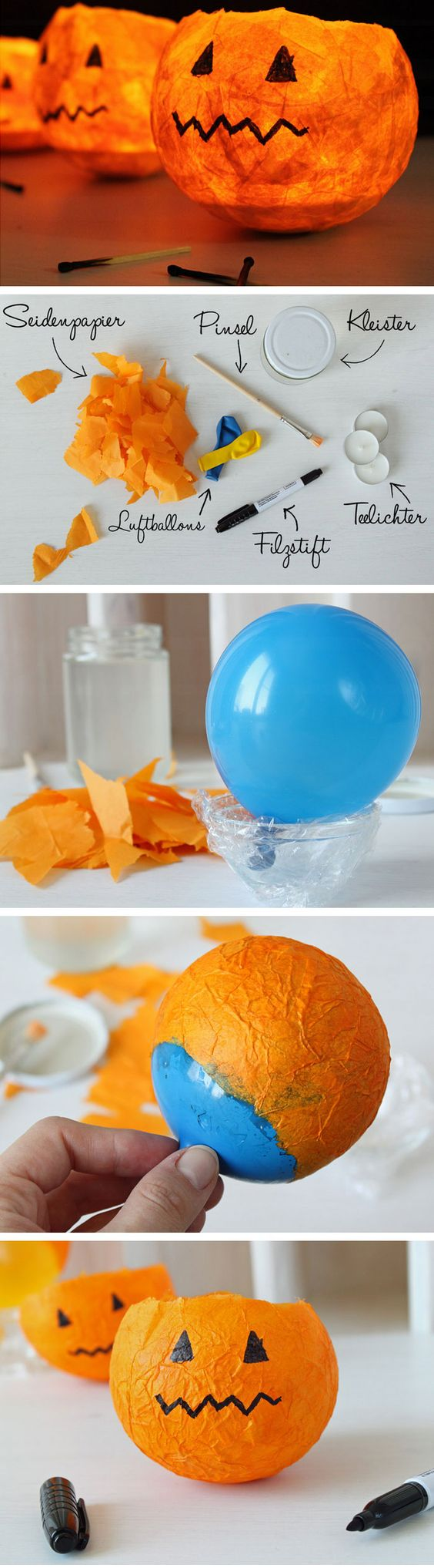 2. Papier Mache Pumpkins