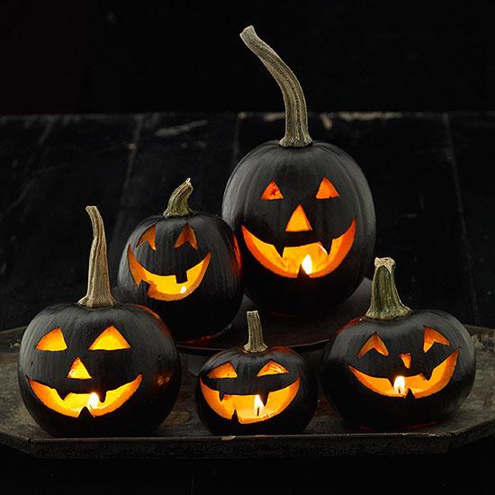 2.Sinister Black Pumpkins