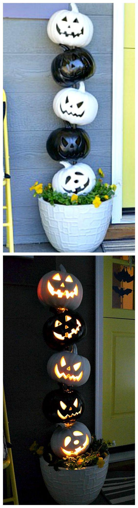 20. Black and White Pumpkins