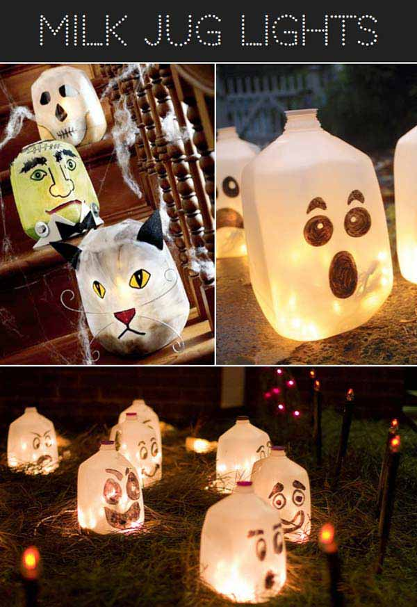 22. Milk Jar Lights