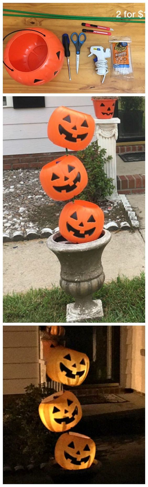 4. Pumpkin Baskets Lights