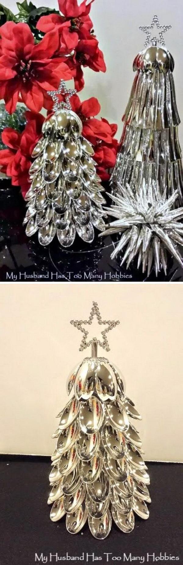 1. Spoon Christmas Tree