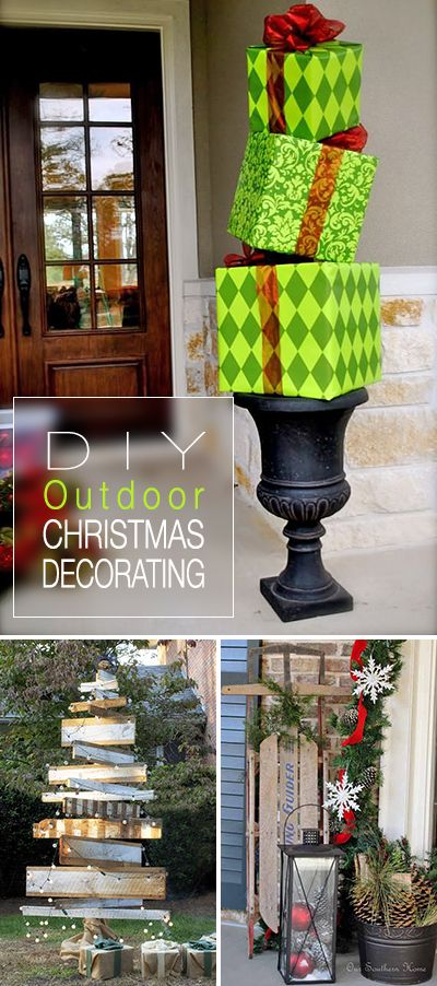 10. DIY Outdoor Christmas Decoration
