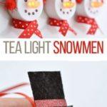 13. Tea Light Snowmen