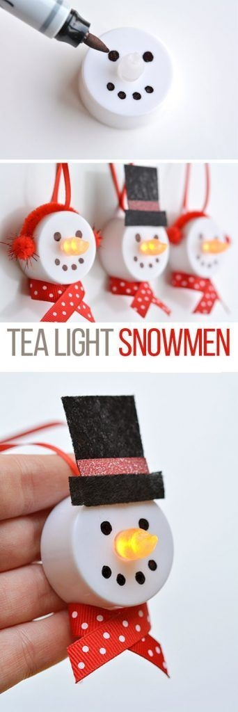13. Tea Light Snowmen